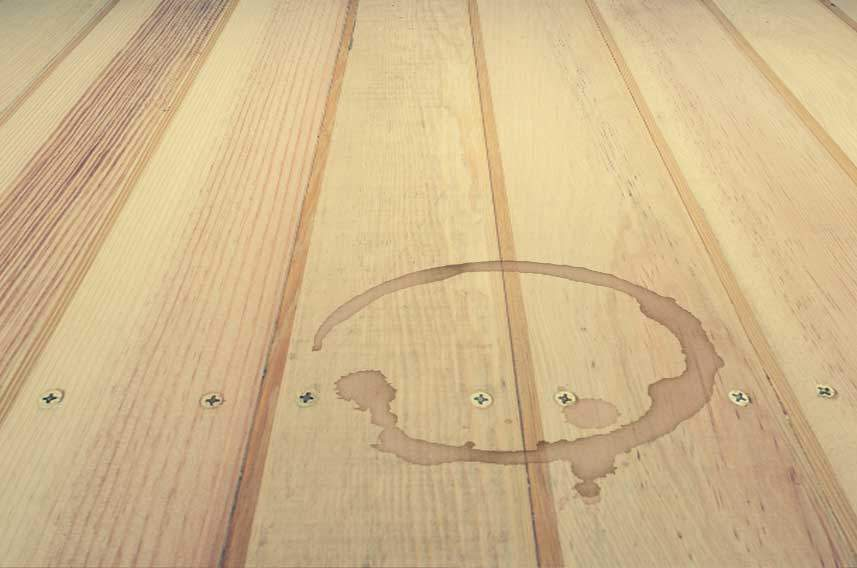 Coffee Stained Wood Floor